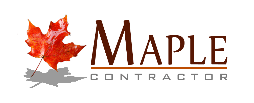 logo maple design dan constructor